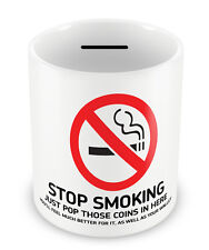 STOP SMOKING Money Box - Trying to quit Savings Penny jar piggy bank habits #58