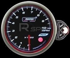 Prosport 52mm Smoked Stepper Motor Gauge Petrol Tacho RPM White Blue Amber