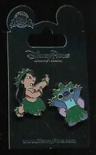 Lilo and Stitch Hula Dancing 2 Pin Set Disney Pin 74232