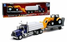 NEWRAY 1:32 KENWORTH W900 DUMP TRUCK WITH WHEEL LOADER & Trailer SS-10663