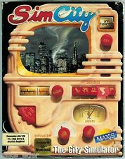 """Sim City 5 1/4"""" Disk (Commodore 64/128, 1989) with Box & Instructions"""
