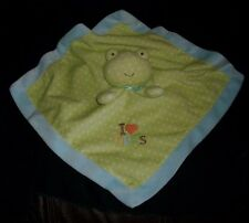 CARTER'S JUST ONE YOU BABY FROG SECURITY BLANKET RATTLE STUFFED ANIMAL PLUSH TOY