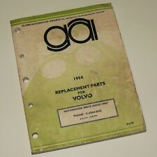 REPLACEMENT PARTS FOR VOLVO - spare part numbers / catalog etc 1994 vintage