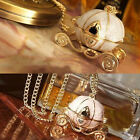 Betsey Johnson Cinderella Horse Pumpkin Carriage Necklace Opening Box Exquisite
