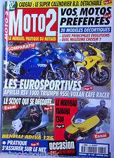 MOTO 2 n°130 du 1/2001; Aprilia RSV 1000/ Triumph 955I/ Voxan Café Racer/ Yam T
