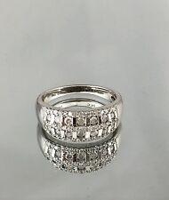 $1,550 .50CT NATURAL ROUND DIAMOND COCKTAIL RING 10K WHITE GOLD