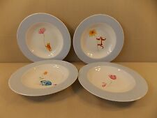 """Disney China """"Winnie the Pooh"""" 4 Rimmed Soup Bowls"""