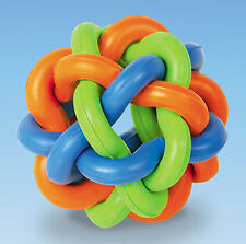 Vollgummi Knotenball 9,5 cm  Ball Gummi Spielzeug Hund HUNDESPIELZEUG