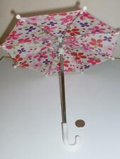 "Pink Purple Flower Umbrella Rain Accessory Fits 18"" Amecian Girl Doll Clothes"