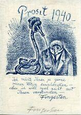 FINGESTEN Michele, Prosit 1940, PF per l'artista stesso, firmato, rarissimo !