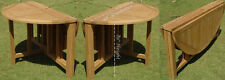 """Grade-A Teak Wood 48"""" Round Butterfly Dining Table Outdoor Garden Patio New"""