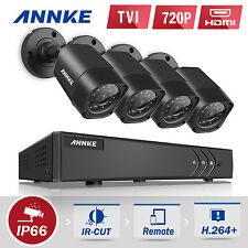 ANNKE 1080P Lite 8CH TVI Video DVR 4x 720P 1MP Outdoor IR Security Camera System