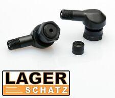 2 x Alu Winkelventile schwarz für BMW R850R R1100R R1150R tire valve Eckventile
