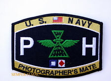PHOTOGRAPHER'S MATE PH HAT PATCH US NAVY AVIATION PIN UP USS CAMERA PHOTO GIFT