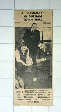 1939 Dr J Brown Examining Tests Durham Ambulance Competitions