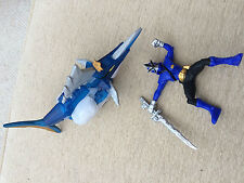 Power Rangers samurai blue shark and blue ranger action zord megazord toy