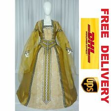 MEDIEVAL RENAISSANCE TUDOR WEDDING HANDFASTING LARP GOWN DRESS COSTUME --- 18C