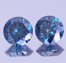 1.00 Carat Blue Diamond Pair Loose For Earrings Best Price Sparkling Matching