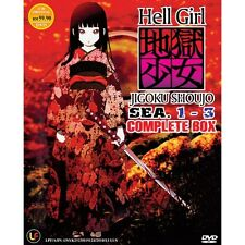 DVD HELL GIRL JIGOKU SHOUJO SEA 1-3 COMPLETE BOX + Free 1 Bonus Anime