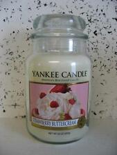 STRAWBERRY BUTTERCREAM Yankee Candle 22 oz Large Jar Candles