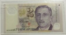 Singapore $2.00 Polymer Note Signed By Goh Cheok Tong W/Smudges On The Red Seal