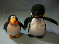 2 PENGUINS PLUSH STUFFED ANIMALS FIGURES CHRISTMAS TREE DECORATIONS COLLECTIBLES