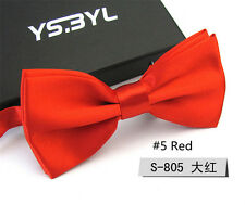 New Red Men's Business Bow Tie Formal Work Necktie Bowties Party Wedding Ties