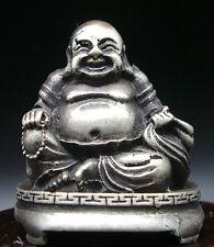 ANCIENNE STATUETTE BOUDDHA RIEUR PORTE BONHEUR BUDDHA STATUE n2