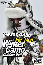 1:6 Mossy Oak. Winter Camo Outdoor Suit 7 for Male Figure by MCTOYS Magic Cube