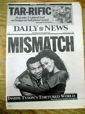 Lot of 3 NYC newspapers BOXING CHAMPION MIKE TYSON left by Wife ROBIN GIVENS