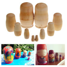 5Pcs New Dolls Wooden Russian Nesting Babushka Matryoshka Hand Painting Gift Toy