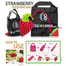 Strawberry Cute ECO Reusable Shopping Shoulder Tote Bag