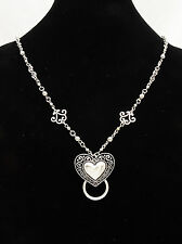 New Eyeglass / ID Badge Holder Necklace Lanyard with Ornate Heart Pendant #Z2010