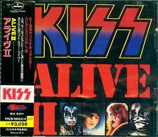 KISS ALIVE II JAPAN 2CD PHCR-10023/4 OBI 1977