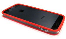 Ultra Slim Silicon Bumper Frame Protector Case for iPhone 5 5S ~ Red Transparent