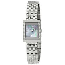Gucci G-Frame Mother of Pearl Dial Stainless Steel Diamond Ladies Watch YA128404