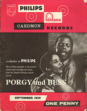 PHILIPS RECORD CATALOGUE SUPPLEMENT 1959 09 SEPTEMBER porgy and bess/bernstein