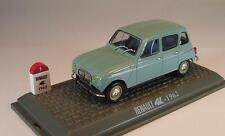 Universal Hobbies 1/43 Renault 4L (1962) taubenblau in Plexi-Box #1024