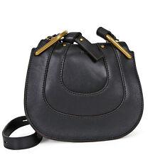 Chloe Nano Hayley Leather Shoulder Bag - Black