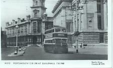 Pamlin repro photo postcard M510 Portsmouth Trolleybus 298 Guildhall 1960