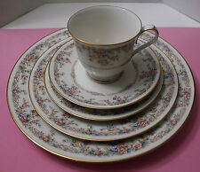 """NORITAKE  """"GALLERY""""# 7246 IVORY CHINA  5 PIECE PLACE SETTING DISCONTINUED"""