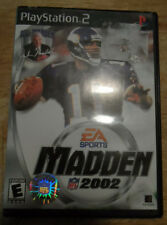 PLAY STATION 2 -EA SPORTS MADDEN NFL 2002--GAME + CASE +ORIGINAL BOOK