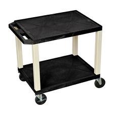 H Wilson Tuffy AV Cart - 2 Shelves Nickel Legs WT26E NEW