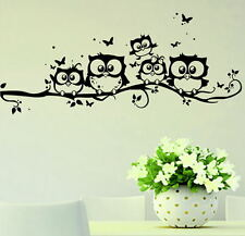 Home Decor Removable Art Vinyl Decal Owl Cartoon Wall Sticker Nursery Kids Room