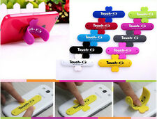 Universal Touch-U 1Touch Silicone Stand For iPhone Samsung & Other Phones Blue
