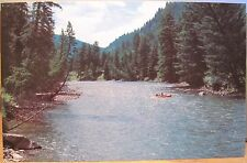 Montana Postcard GALLATIN RIVER Karst Floating Rafting Kayaking BIG SKY Bozeman
