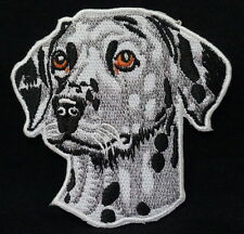 Cool DALMATIAN Dog Face Embroidered Iron On / Sew On Patches