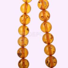 10mm Cherry Baltic Synthetic Amber Round Beads Strand 15.5'' for DIY