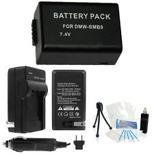 DMW-BMB9 Battery + Charger + BONUS for Panasonic Lumix DMC-FZ100 FZ150 FZ60