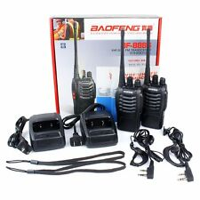2pcs BF-888s Talkie Walkie UHF 5W 16CH Flashlight numérisation 2-Way Radio Scan